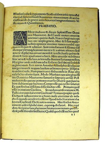 Woodcut initial in Colatius, Matthaeus: Opuscula