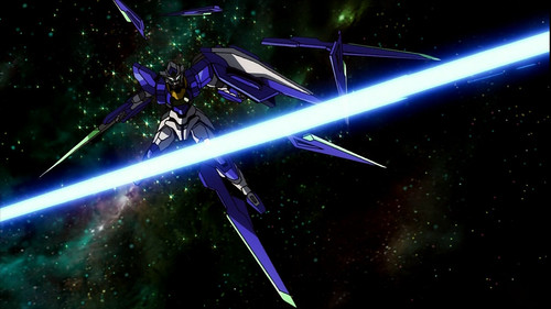 gundam 00 exia. a mixture of Gundam Exia,