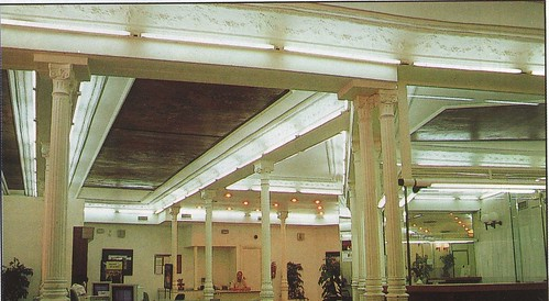 Interior del antiguo Café Español reconvertido en oficinas de la Caja Rural. Años 90