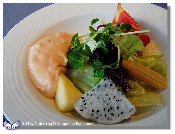 091112綠風莊園餐廳06_庭園沙拉佐千島醬