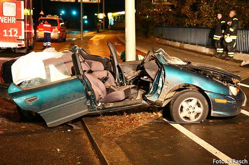 Person Eingeklemmt - Schwerer Unfall in Berlin Grunewald