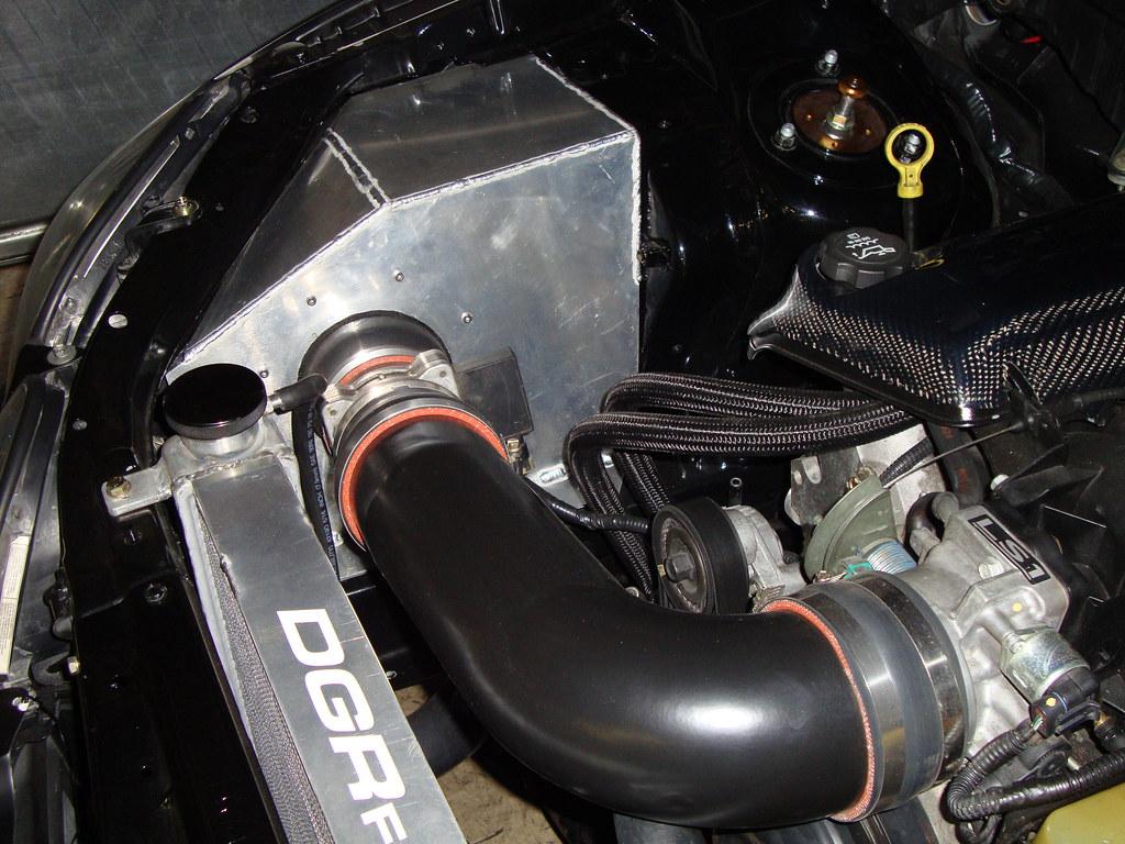 Custom air intake.