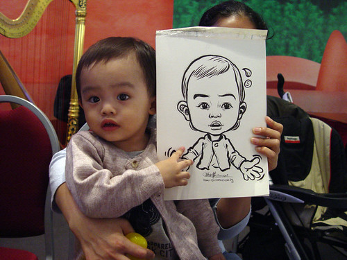 Caricature live sketching for Marina Square X'mas Tenants Gathering 2009 - 8