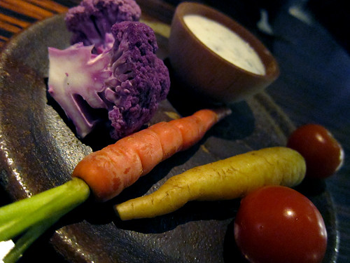 RH at the Andaz, West  Hollywood - Crudité plate