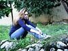 (<maria>) Tags: tree nature girl garden jeans converse blonde chucks