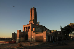 The heating plant and the Casino (Turukhtan) Tags: abandoned beach buildings seaside newjersey decay empty asburypark casino boardwalk heatingplant