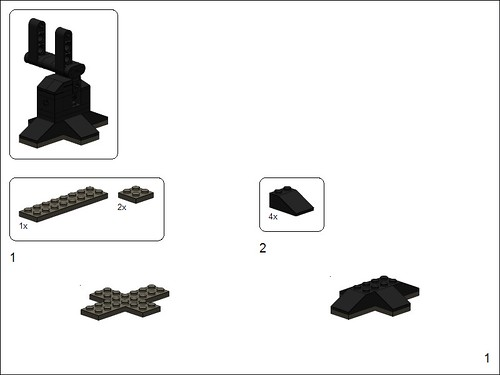 LEGO Falcon Stand instructions