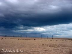 Blue sky (Abdullah Al-Butairi) Tags: blue sky مطر سماء غيوم صحراء سحاب طريق رمال زرقاء صحراوي