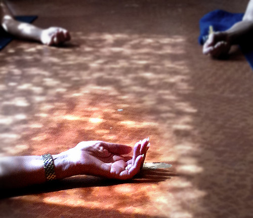 Hands in Savasana