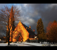 ~~~ stone church ~~~ (xandram) Tags: morning trees winter photoshop sunrise chuech topseven magicunicornverybest selectbestexcellence sbfmasterpiece
