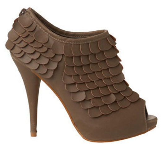 DIT idea leather scale heels 4