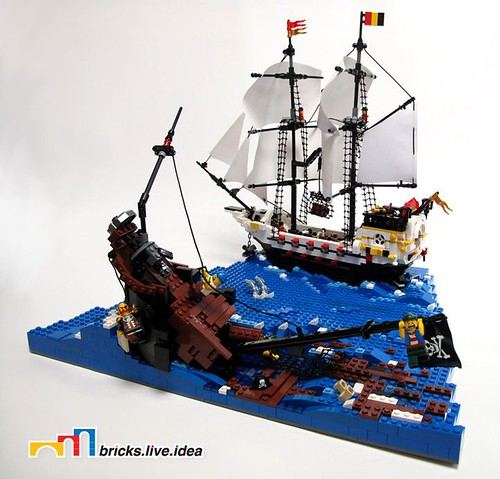 LEGO pirate cat forced perspective
