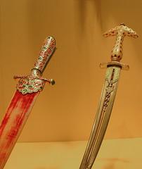 Daggers (Arutemu) Tags: art history museum asian persian asia arms medieval armor weapon sword warrior historical dagger oriental met swords armour renaissance metropolitan metropolitanmuseum turkish weapons daggers medievalart