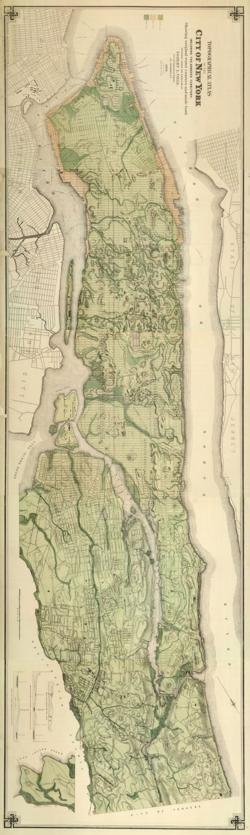19th century topographic map of NYC