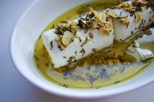 Goat Cheese in Herbed Olive Oil