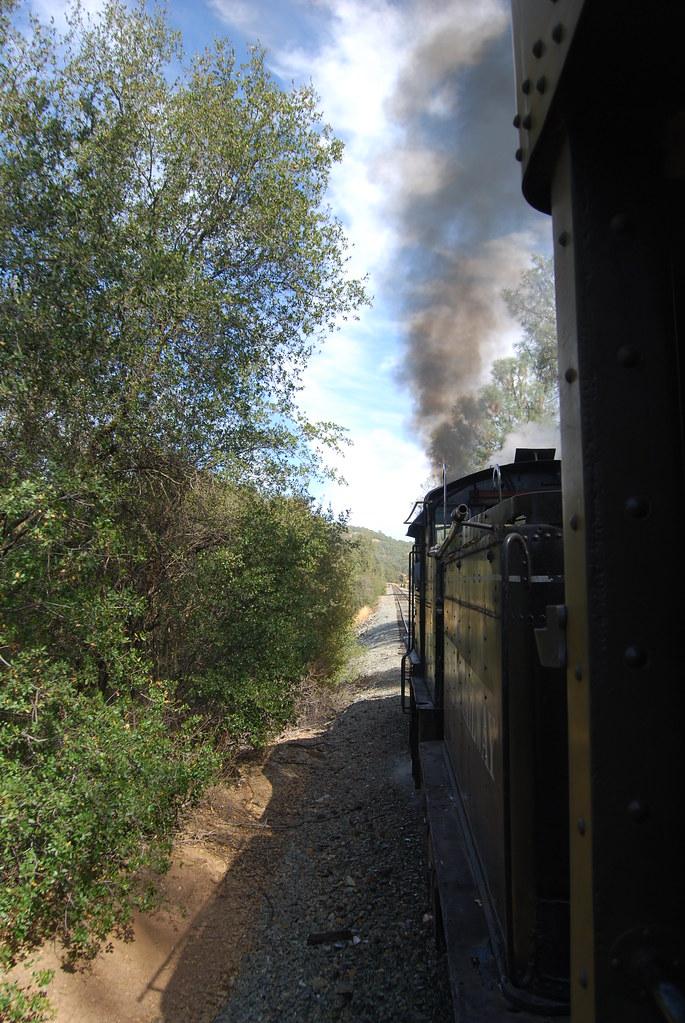 The steam locomotive in Railtown outside of Jamestown California. Photo by Paul Sullivan.