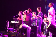 The Urbana '09 Worship Team leads the 16,000 people in worship.