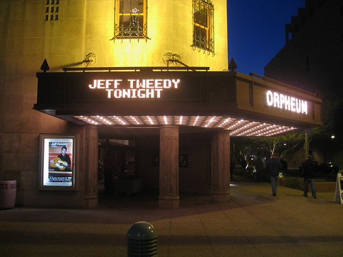 Jeff Tweedy, Orpheum Theatre, 12-27-09