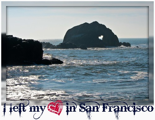 heart in rock (Sutro Bath Ruins San Francisco)