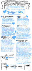What to do on Twitter (Laurie Pink) Tags: bird illustration cat cartoon kitty howto instructions whatnow twitter lauriepink twitterbird twittertips glompf