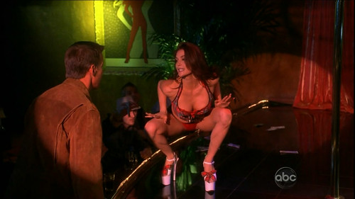 Matchless Teri hatcher on a stripper pole excited too