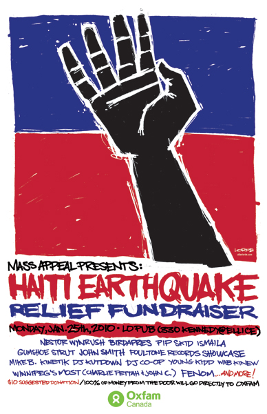 Haiti Earthquake Relief Fundraiser poster