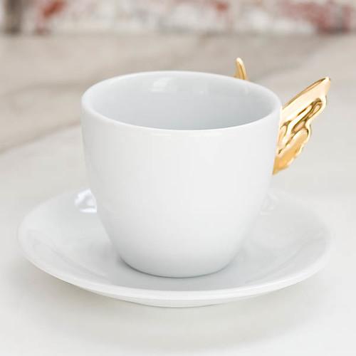 alada gold winged teacup