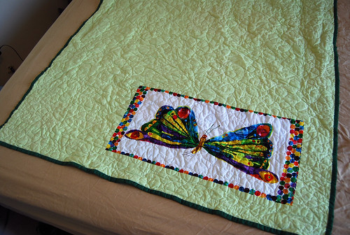 Hungry Caterpillar Quilt Backing