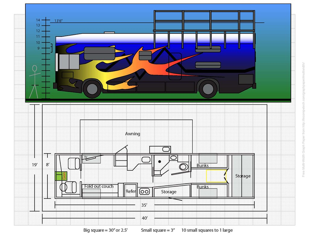 Conversion Encyclopedia Floor Plans Page 2 School Bus