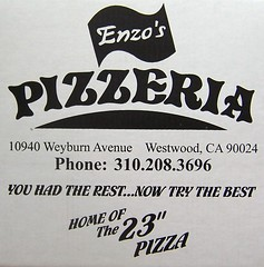 Enzo's Pizzeria (Question Josh? - SB/DSK) Tags: pizza cardboard enzo packaging pizzeria package