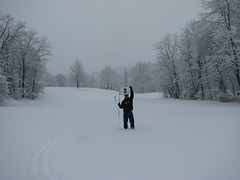 Wheeling Park Golf Course Snow