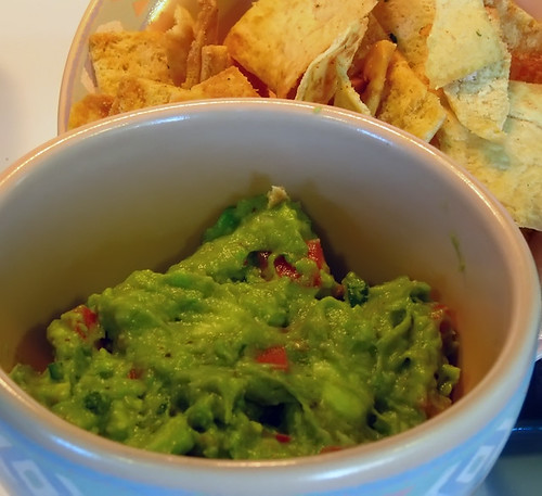 Rockin' Guac with Parmesan Garlic Pita Chips