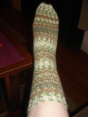 Green step sock 1