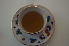 (vɑnished) Tags: light white hot flower cup floral table warm tea drink