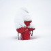 Snowy Red Hydrant by John Fraissinet