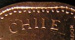 Chile Mis-spelled on coin