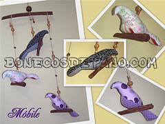 .:. Mbile de Pssaros .:. (Bonecos de Pano .Com) Tags: bird mobile passarinho pssaros mbile passarodetecido passarodepano