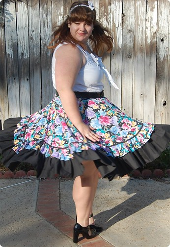 Twirly-gig Square Dance Skirt Twirl View