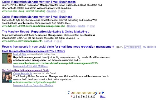 Results for Small Business Reputation managerment