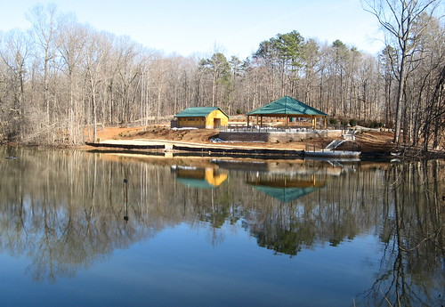 Pond and park shelter