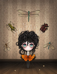 Elend (Anita Mejia) Tags: illustration butterfly sad dragonfly insects soul misery firefly pasion melancholia miseria elend chocolatita anitamejia