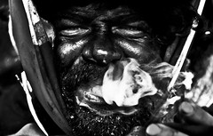smoke in cuba (ralijers) Tags: carnival portrait blackandwhite bw smoke 50mm18 sigaro budspencer 450d ovodda ugualemahuahuhuahuau nessunfiltro noneroacuba