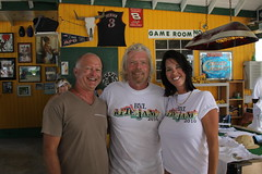 Capt Doug and Chef Wendy with Sir Richard Branson ... (mustangsallyv) Tags: virgin bvi britishvirginislands neckerisland mustangsally richardbranson sirrichardbranson chartercatamaranmustangsally