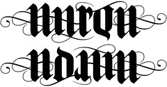 """Aaron"" & ""Adam"" Ambigram"