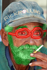 Old man (egr.greg) Tags: oldman smoking greenface oudeman hornyoldman guidomusch egrgreg