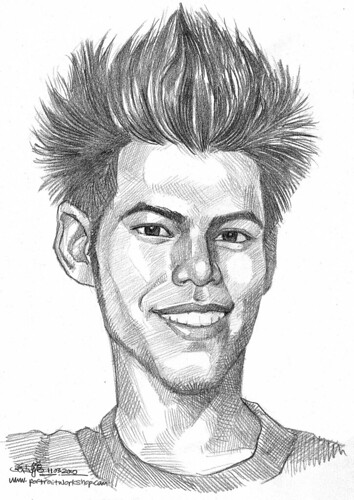 Guy portrait in pencil 110310