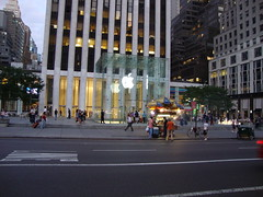 Apple Store (darth_sweder) Tags: nyc newyork apple glass store manhattan applestore cube