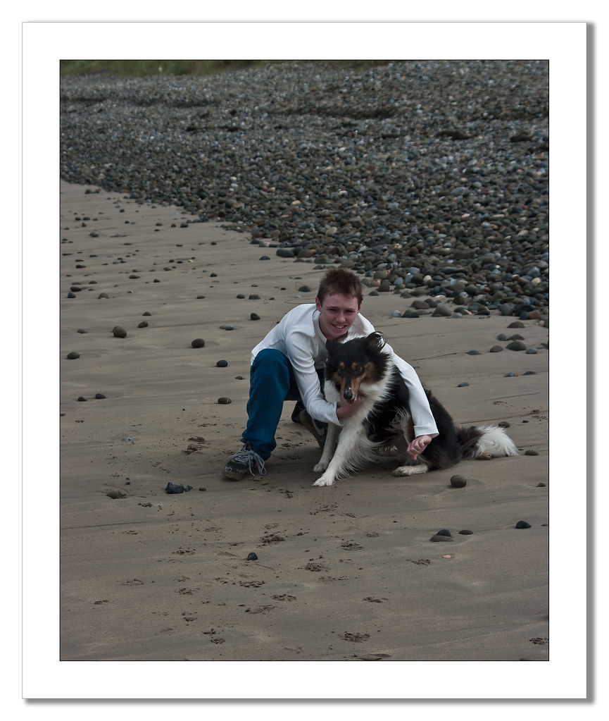 Christopher and Lucy on beach