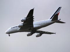 Air France Airbus A380-861 (MSN 0043) F-WWAB (jens.lilienthal) Tags: france plane inflight aircraft air hamburg airbus a380 msn approach eimsbttel eads finkenwerder anflug 043 landeanflug 0043 xfw a380861 fwwab msn043