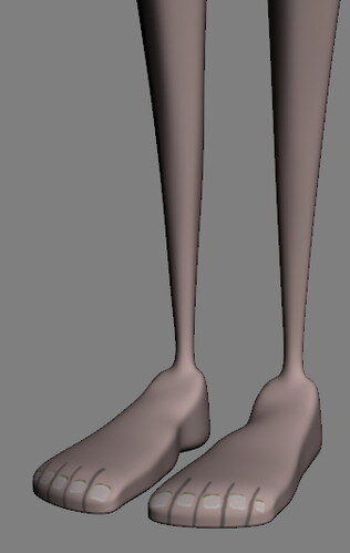 Émile Feet Rendered